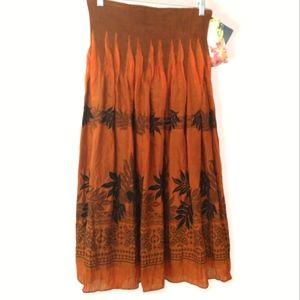 Lapis Burnt Orange Convertible Skirt /Dress